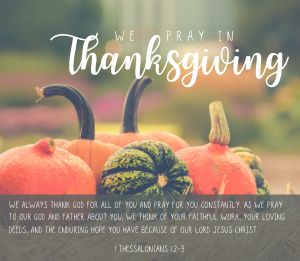 November Prayers of Gratitude